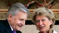 Jean-Claude Trichet und Petra Roth.