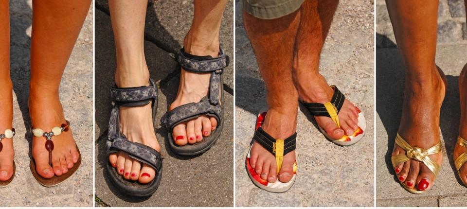 new product 13961 573ee Sandalen: Die Latschen werden salonfähig