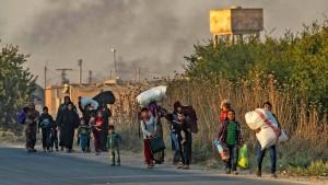 Tausende Menschen in Syrien auf der Flucht