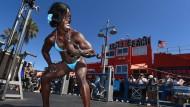 Muscle Beach ist der Sehnsuchtsort für Muskelfrauen wie -männer.