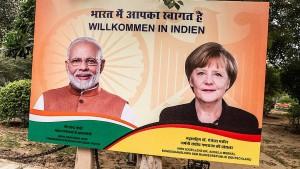 Merkel für Freihandelsabkommen und indische Fachkräfte