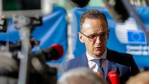 Maas: Alle müssen zur Deeskalation beitragen