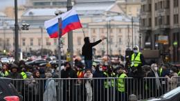 Hunderte Festnahmen bei Protesten für Nawalnyj