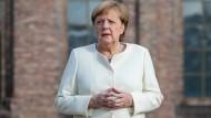 Bundeskanzlerin Angela Merkel am Festakt zum 30. Jahrestag der Deutschen Einheit am 03. Oktober 2020 in Potsdam