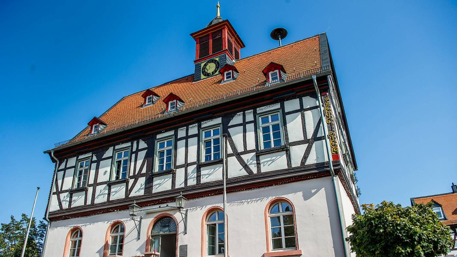 Für den Hessentag herausgeputzt: Das Alte Rathaus in Bad Vilbel