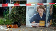 Knapp mit dem Leben davongekommen: An dieser Stelle wurde die Kölner Oberbürgermeisterin Henriette Reker bei einer Wahlkampfveranstaltung 2015 mit einem Messer attackiert.