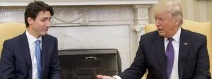 Kanadas Premierminister Justin Trudeau und der amerikanische Präsident Donald Trump bei ihrem Treffen im Weißen Haus im Februar.