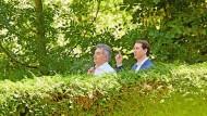 Österreichs Kanzler Sebastian Kurz und Vizekanzler Werner Kogler in Reichenau an der Rax im Juli 2021