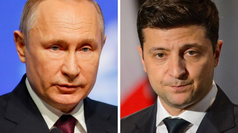Putin und Selenskyj sprechen erstmals über Ukraine-Konflikt.