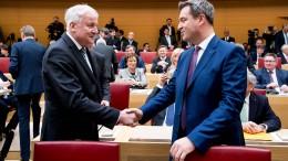 Söder unterstützt Seehofers Masterplan