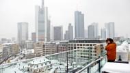 Schneebedeckt: So sieht es in Frankfurt immer seltener aus. (Archivbild)