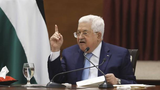 Palästinenserpräsident kündigt Abkommen mit Israel und Amerika auf