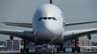 Größer ist keines: A380-Flugzeug von Singapore Airlines in Frankfurt.