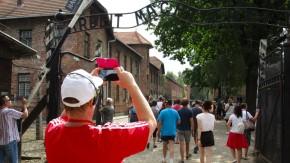 Fotografieren an Orten des Schreckens wie hier in Auschwitz