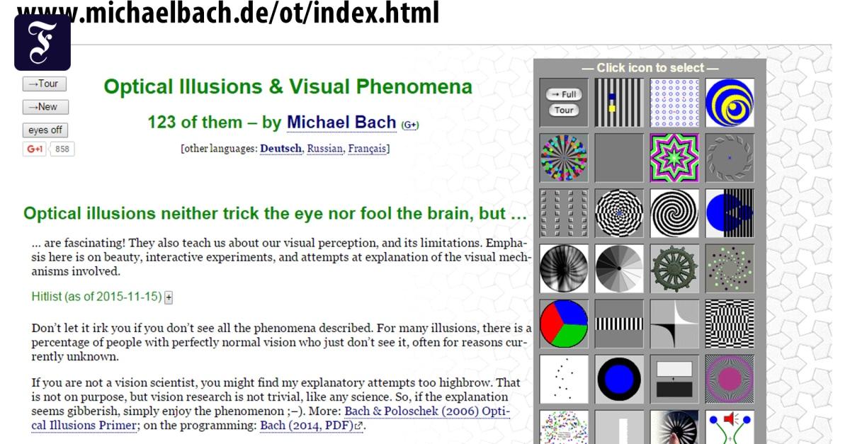 Netzrätsel: Das Auge austricksen