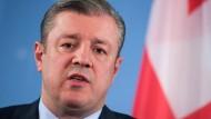 Bisheriger Außenminister und, seit der Nacht zum Mittwoch, neuer georgischer Ministerpräsident Giorgi Kwirikaschwili.