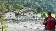 Deutsche nach Bergsturz in der Schweiz vermisst