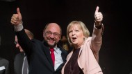 Auf Erfolgskurs: der designierte SPD-Kanzlerkandidat Martin Schulz und die nordrhein-westfälische Ministerpräsidentin Hannelore Kraft beim politischen Aschermittwoch der SPD in Schwerte