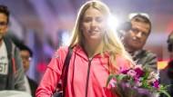 Ankunft in Frankfurt: Angelique Kerber