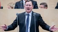 Ministerpräsident Bodo Ramelow (Die Linke) spricht während der Sitzung des Bundesrats Anfang Januar.