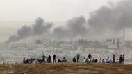 Kurdische Kämpfer wollen mehr Luftangriffe