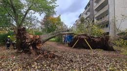 Beschädigte Häuser und lahmgelegter Bahnverkehr