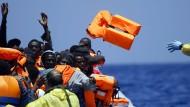 Mehr als 80.000 Flüchtlinge sind dieses Jahr schon über das Mittelmeer nach Europa gekommen.