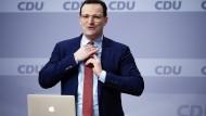 Jens Spahn beim CDU-Parteitag am Samstag in Berlin.