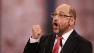 Ein kämpferischer Martin Schulz auf dem Sonderparteitag in Berlin