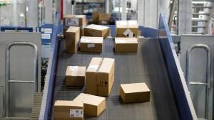 Wo Postsendungen auch einmal ins Rutschen geraten
