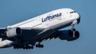 Lufthansa-Flugzeug kurz nach dem Start