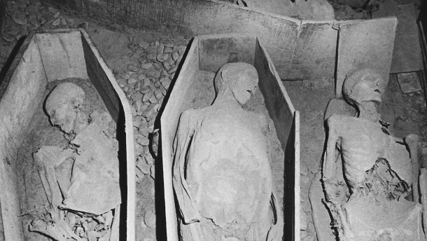 Schädel von 800 Jahre alter Mumie aus Krypta gestohlen