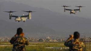 Nepal fleht um Hubschrauber