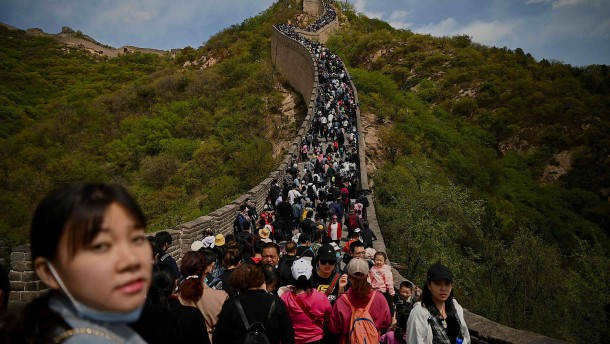 Massenandrang auf Chinesische Mauer