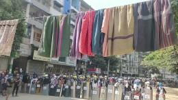 Mit Wäscheleinen für die Freiheit