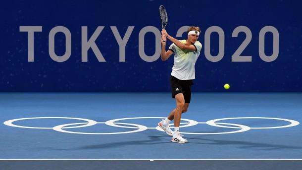 Zverev besiegt Djokovic und steht im Olympia-Finale