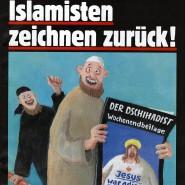 Dicker Jesus: Da lacht der Islamist.