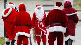 Deutschland gehen die Weihnachtsmänner aus