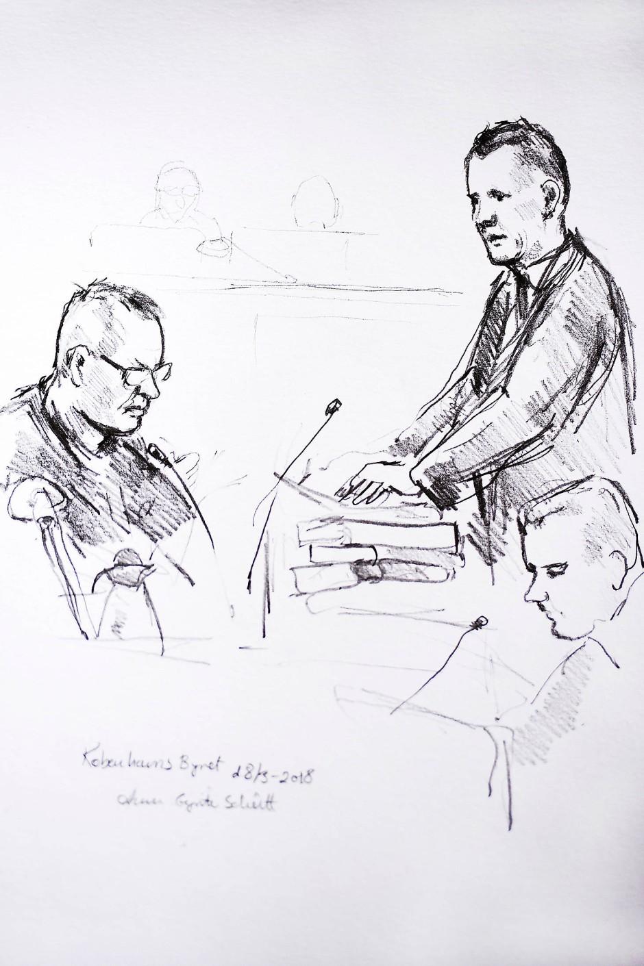 Vor Gericht: Madsen (links)
