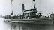 """Die """"USS Conestoga"""" im Januar 1921 im Hafen von San Diego. Wenig später verschwand das Schiff samt Besatzung spurlos."""