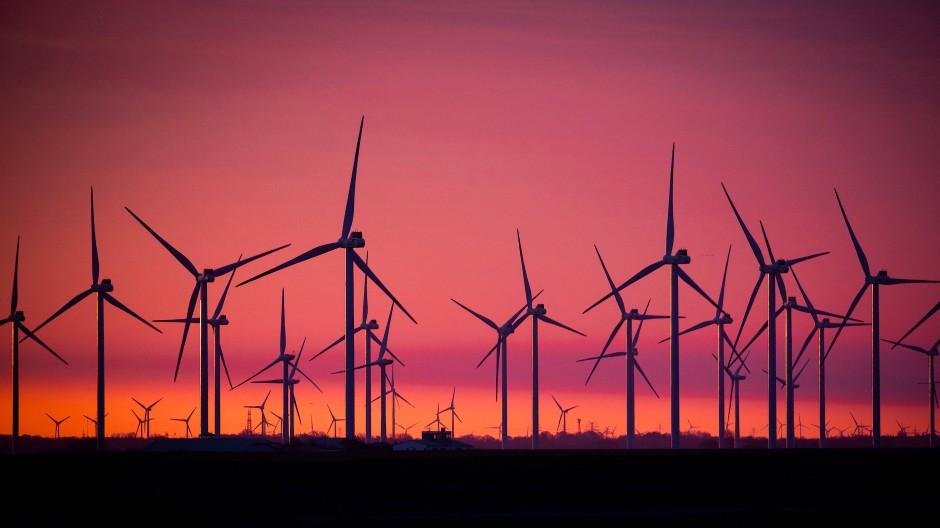 Windkraftanlagen an der Nordsee