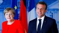 Am 19. Juni trafen sich Angela Merkel und Emmanuel Macron im Schloss Meseberg.