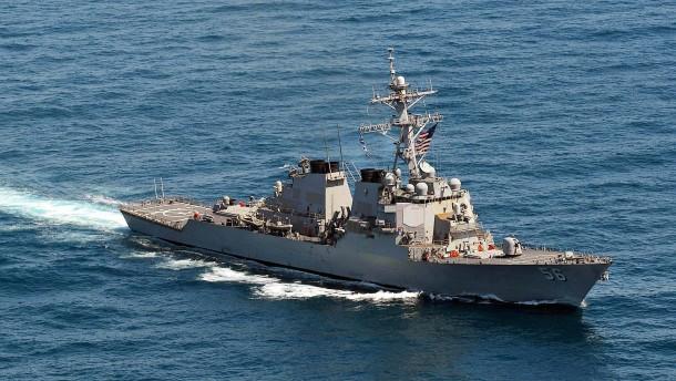 China protestiert gegen amerikanisches Kriegsschiff