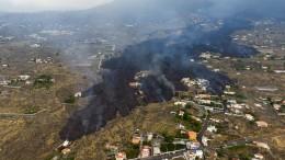 Wo Häuser standen, türmt sich die Lava auf