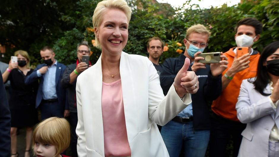 An ihr kommt keiner vorbei: Manuela Schwesig ist Wahlsiegerin in Mecklenburg-Vorpommern.