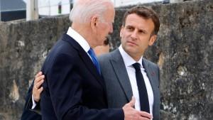 """Macron und Biden vereinbaren """"vertiefte Konsultationen"""""""