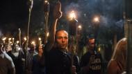 Fackelzug amerikanischer Rechtsradikaler, Charlottesville, 11. August 2017