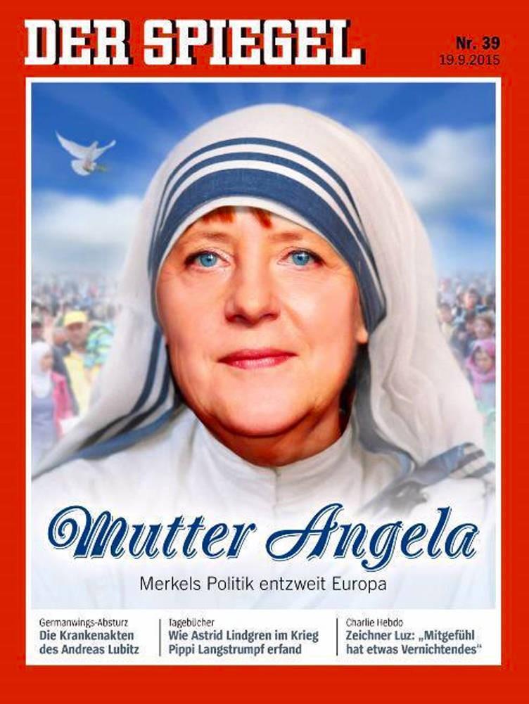 """Bundeskanzlerin Merkel als Mutter Teresa im """"Spiegel"""""""