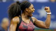 Serena Williams nach nächster Zittereinlage im Achtelfinale