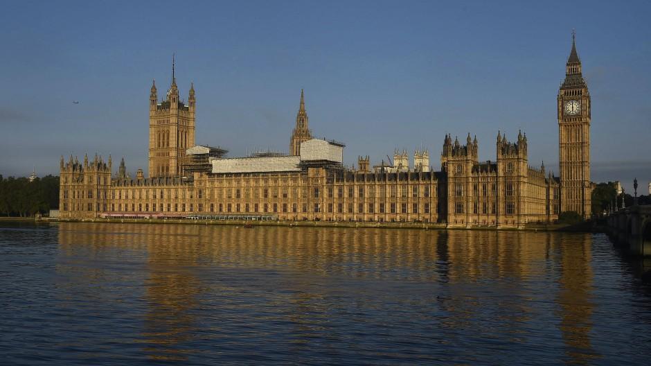 Das britische Parlament in London